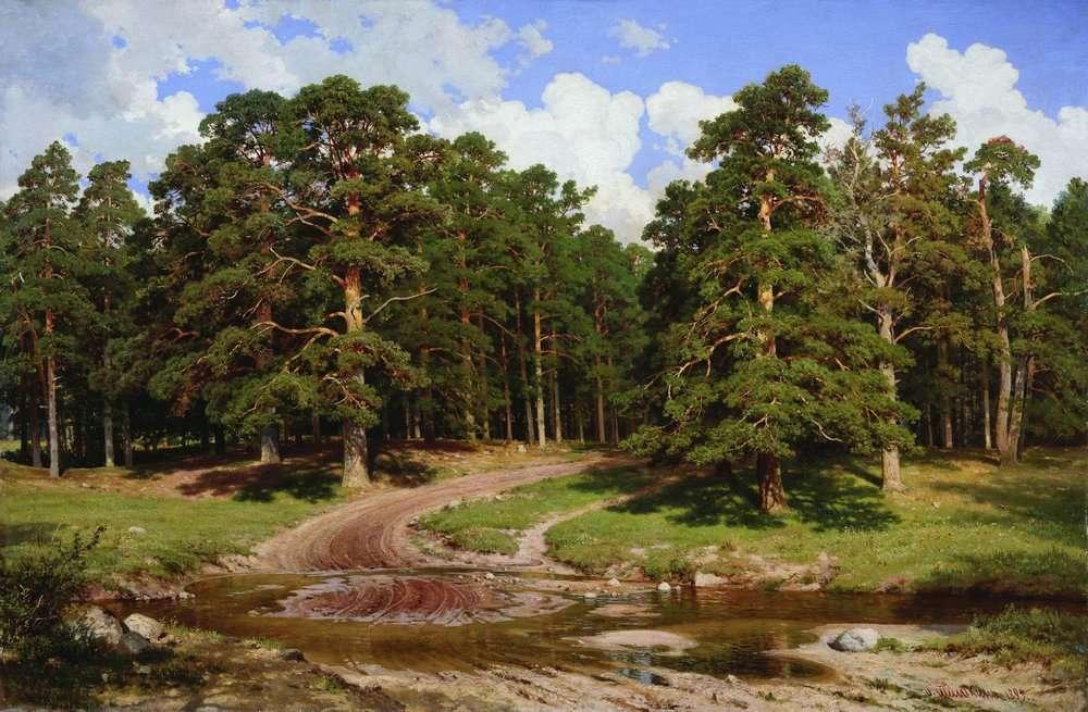 Pine Forest by Ivan Shishkin 1895