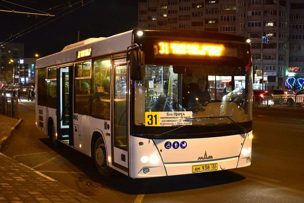 По девяти маршрутам в Брянске автобусы ходят после 8 вечера