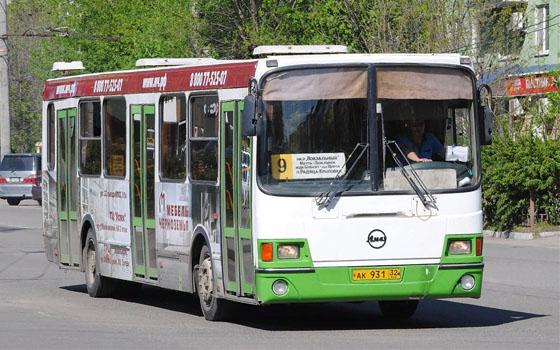 Количество рейсов автобуса №9 в Брянске увеличилось
