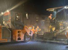 В Брянске проспект Станке Димитрова ремонтируют ночью