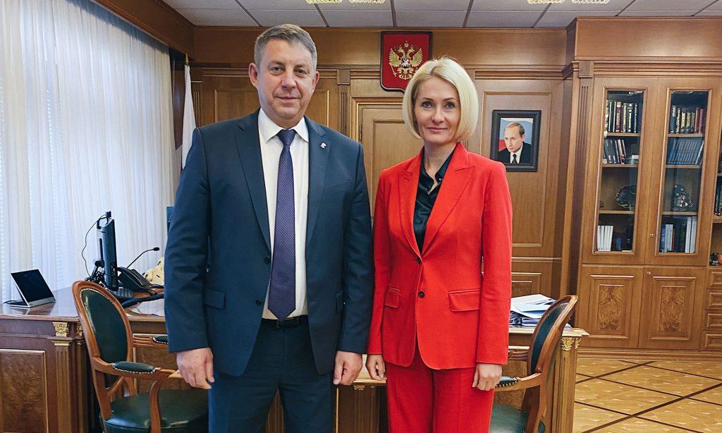 Вице-премьер правительства РФ отметила активное развитие сельских территорий на Брянщине