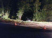 На брянской трассе 35-летнийц водитель врезался в дерево и сломал ногу