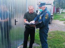 В Новозыбкове продолжаются противопожарные подворовые обходы