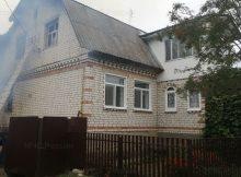 В Дятьковском районе сгорел жилой дом с надворными постройками