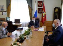 Брянский губернатор встретился с врио руководителя межрегионального управления Росимущества