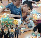 В Почепском районе школьников учили рисовать чем и как угодно
